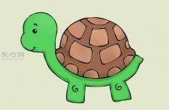 畫卡通烏龜的畫法 一起學畫烏龜步驟