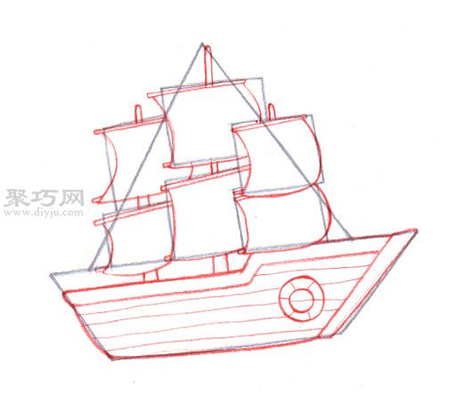 传统船的画法 5