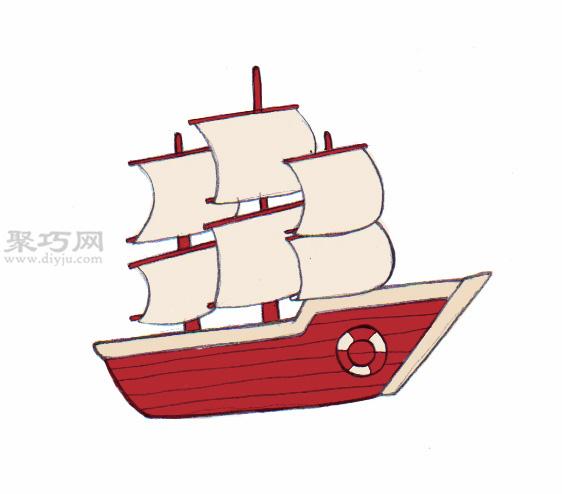 传统船的画法 7