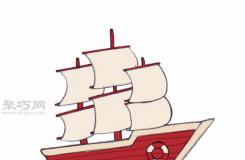 傳統船的畫法 來看怎樣畫船