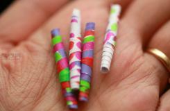 用自己設計的圖案制作紙珠教程圖解 一起學如何DIY裝飾性紙珠