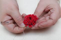手工DIY牡丹氈花方法 一起學氈花怎么做