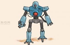 畫精細的機器人的步驟 教你畫機器人畫法
