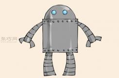 簡單的機器人的畫法 來看怎樣畫機器人