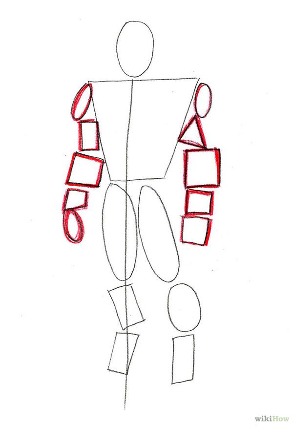 另一种钢铁侠画法教程 来看画钢铁侠画法步骤
