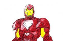 另一種鋼鐵俠畫法教程 來看畫鋼鐵俠畫法步驟