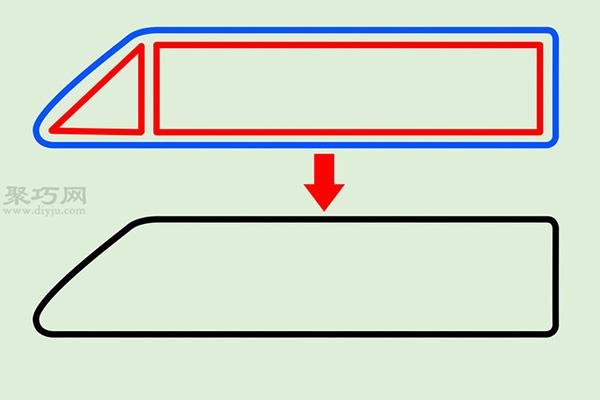 火车高铁的画法 1