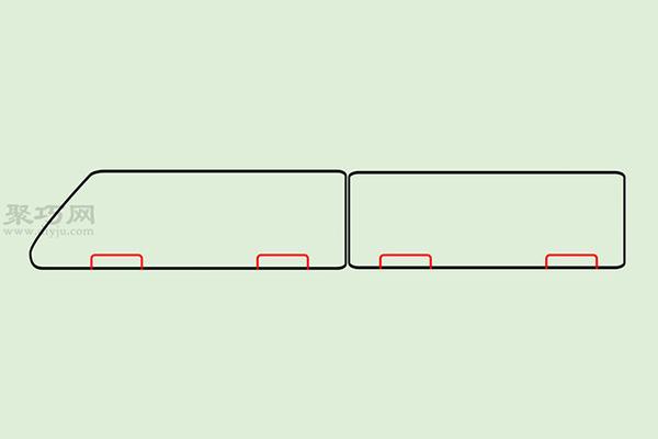 火车高铁的画法 3