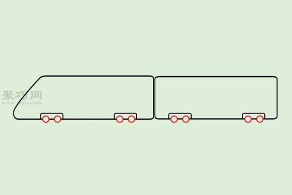 火车高铁的画法 4