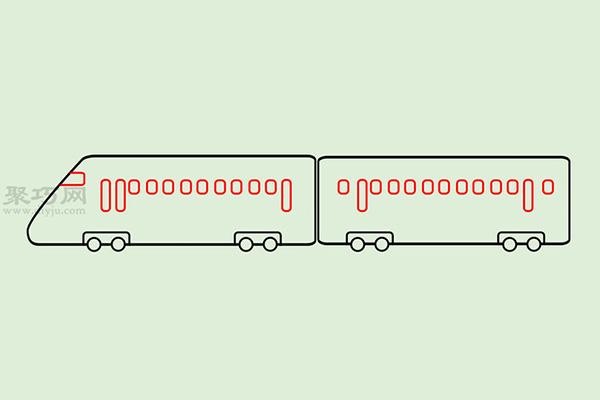 火车高铁的画法 5