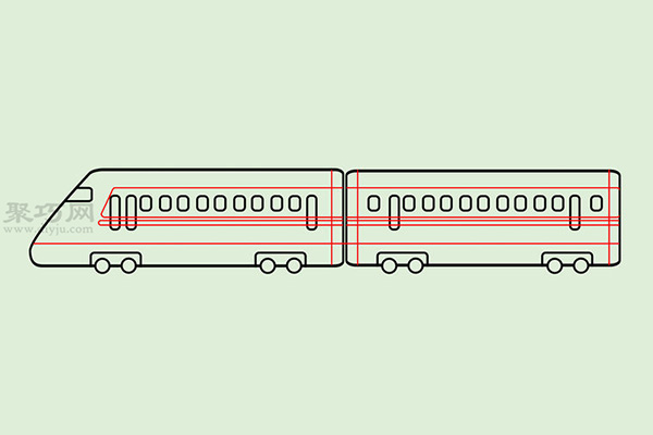 火车高铁的画法 6