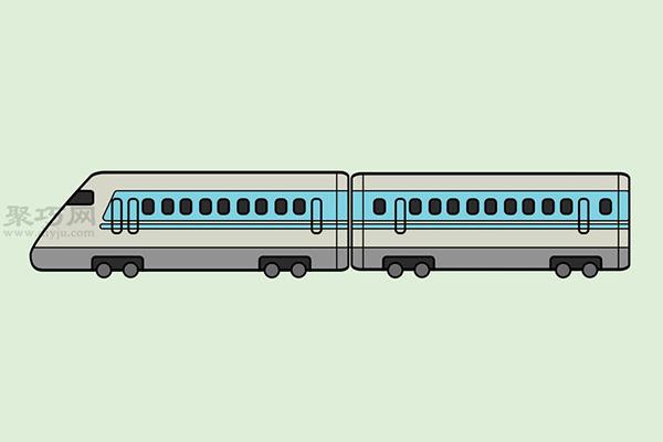 火车高铁的画法 7