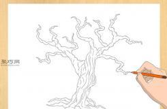 節日樹畫法教程 來看怎樣畫樹
