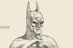 怎么樣畫蝙蝠俠的頭部 來看手繪蝙蝠俠教程