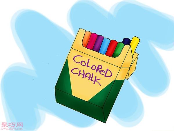 使用彩色粉筆做彩沙方法 16