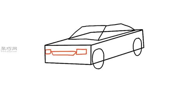 画小轿车的画法步骤