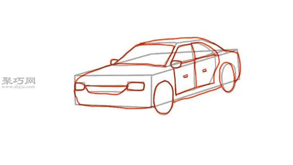 画小轿车的画法步骤 教你画小汽车画法