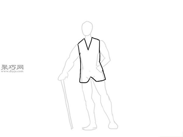 画经典的西装的步骤 8