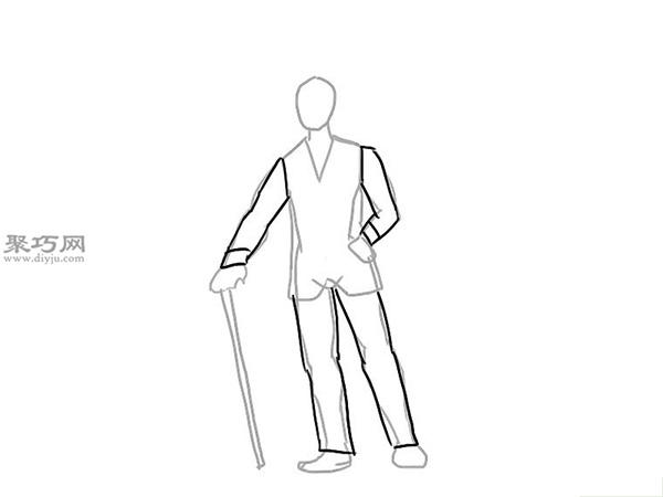 画经典的西装的步骤 9