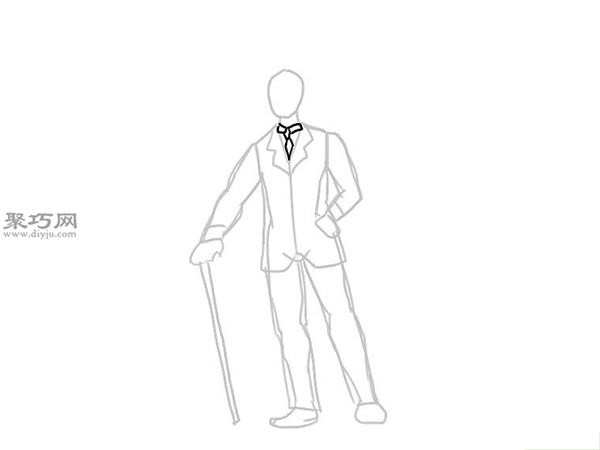 画经典的西装的步骤 11
