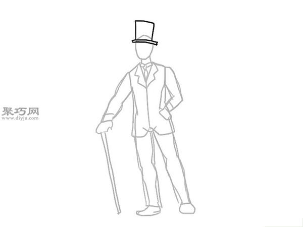 画经典的西装的步骤 12