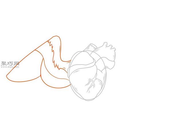 画传统翅膀心的步骤 来看怎样画带翅膀的心