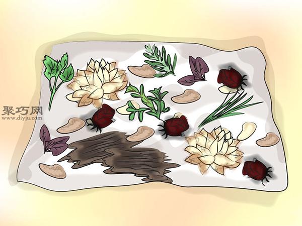 百花香的濕式制作法圖片教程 12