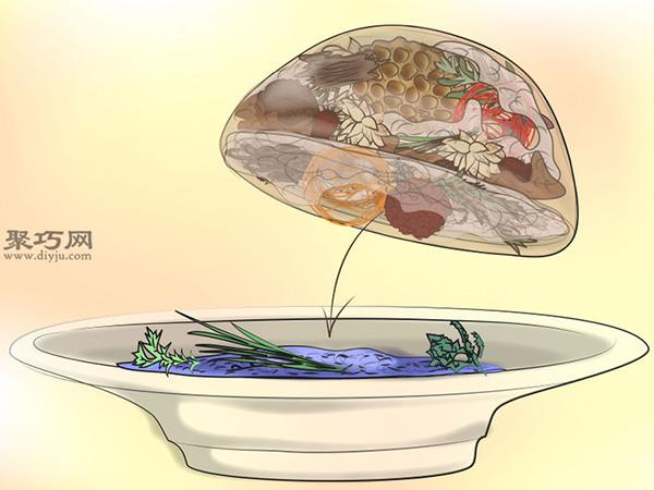 百花香的濕式制作法圖片教程 19