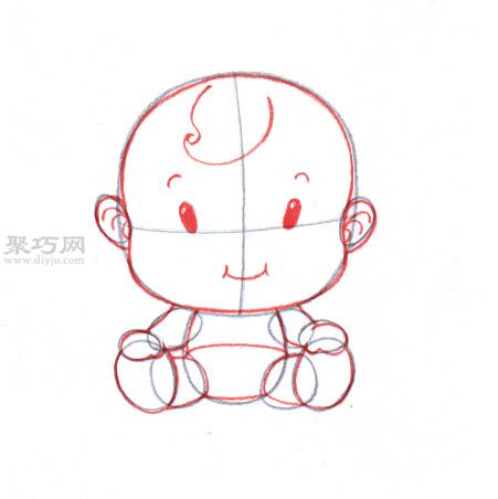 画卡通婴儿的画法步骤 教你画婴儿画法