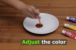 怎樣用三原色調成棕色 用綠色和紅色調制棕色教程