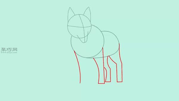 画狼的简笔画的步骤 一起学如何画狼