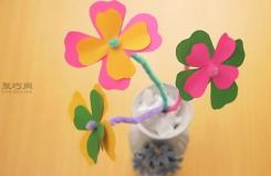 手工DIY層狀紙花方法 一起學如何DIY紙花