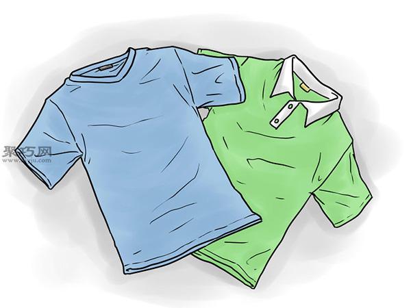 T恤基本折疊法 1