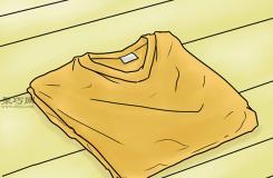 T恤基本折疊法 折疊T恤衫圖解教程