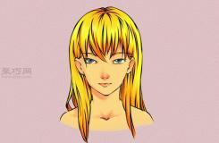 畫女性漫畫人物的步驟 教你畫動漫人物的頭發畫法