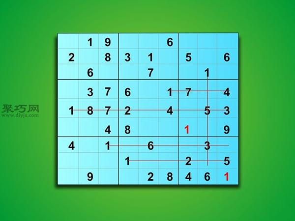 怎樣解簡單數獨 2