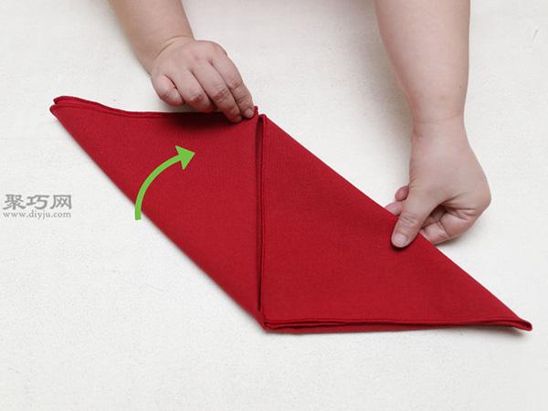 主教帽餐巾折法 15