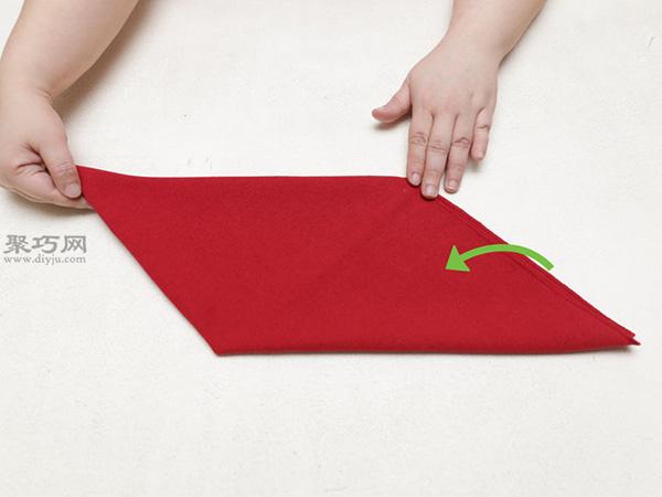 主教帽餐巾折法 16