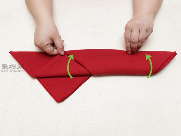 主教帽餐巾折法 17