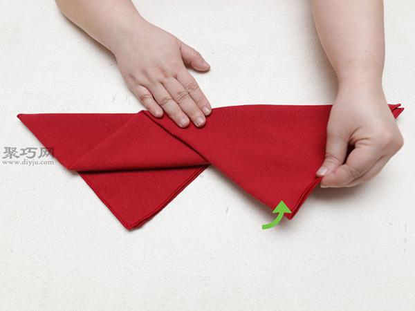 主教帽餐巾折法 18