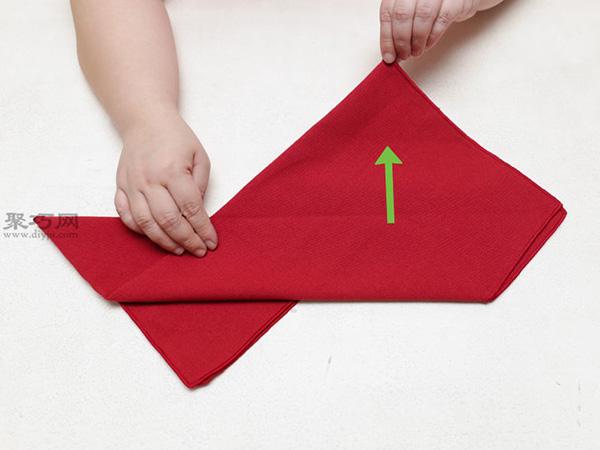 主教帽餐巾折法 19