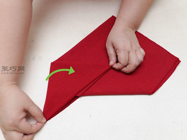 主教帽餐巾折法 20