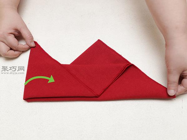 主教帽餐巾折法 22