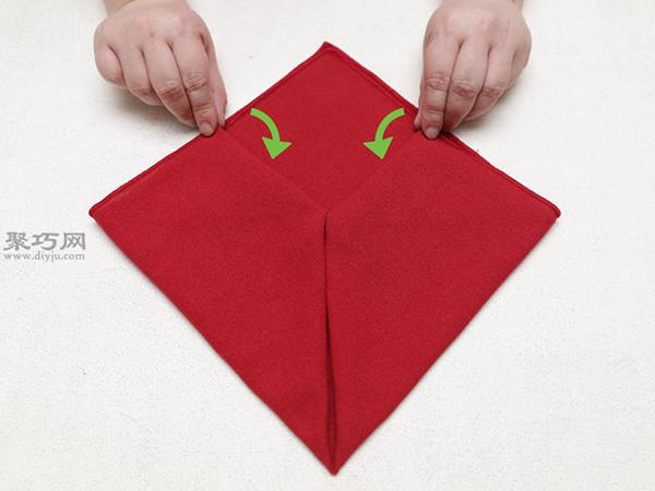 心形餐巾折法 27