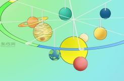 用呼啦圈做太�系模型�D片教程 教你太�系模型怎么做