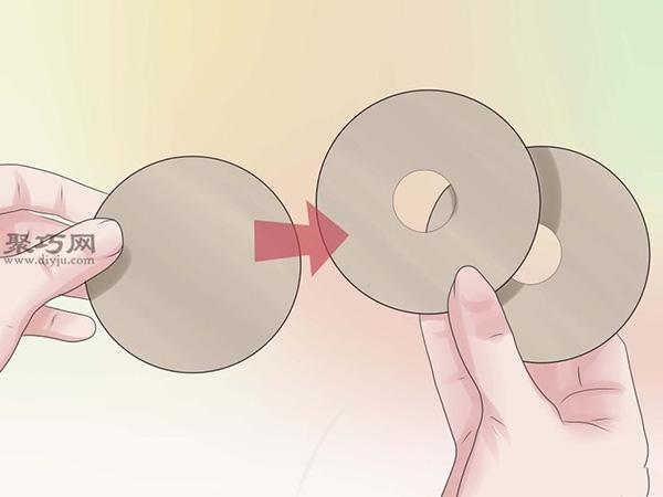 手工制作毛線球圖片教程 1