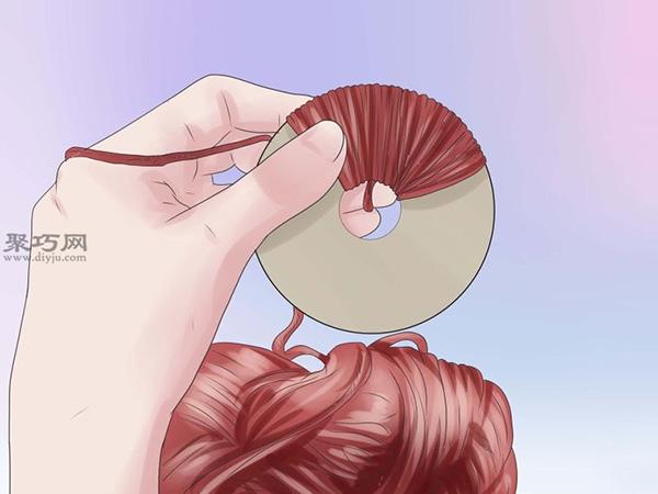 手工制作毛線球圖片教程 2