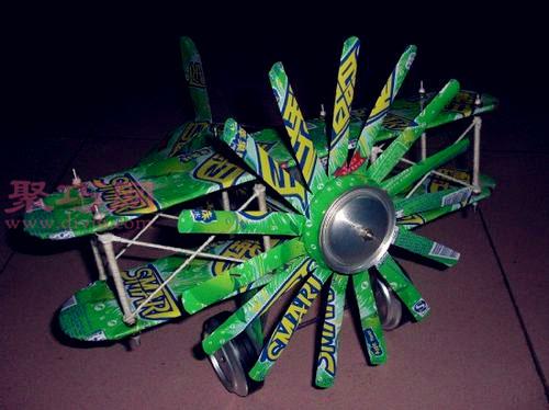 易拉罐飞机手工制作教程