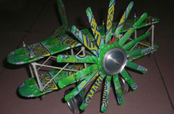 易拉罐飛機手工制作教程 廢舊易拉罐diy飛機