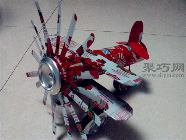易拉罐飞机制作方法 易拉罐手工制作螺旋桨飞机